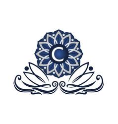 flower elegant icon initial c vector image