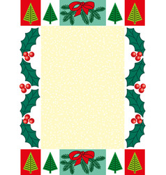 Frame decorated with christmas symbols vector