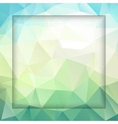 Fresh polygonal background vector