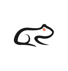 Frog logo design simple minimalist icon vector