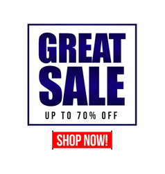 Great sale up to 70 off template design vector