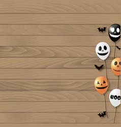 Halloween background with balloons vector