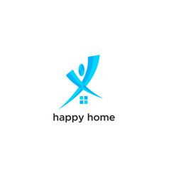 happy home logo vector image