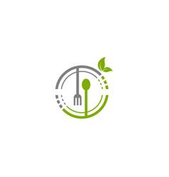 Healthy food advertising template vector