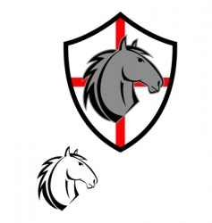 horse cartoon symbol vector image