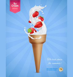 ice cream advertising composition vector image