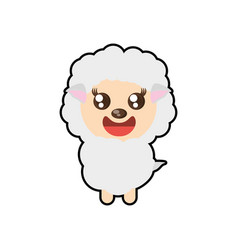 Kawaii sheep animal toy vector