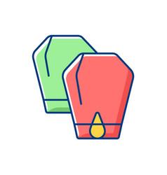 Lantern festival rgb color icon vector