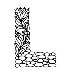 Letter alphabet l vector