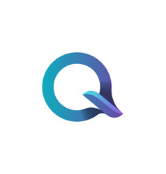 letter q o logo designs inspiration isolated on vector image