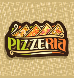Logo for italian pizzeria vector