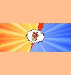 logo versus letters vs on background in comics vector image