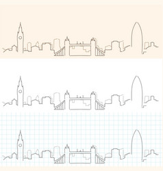 London hand drawn skyline vector