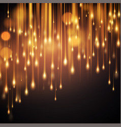 luxurious sparkling black background with golden vector image