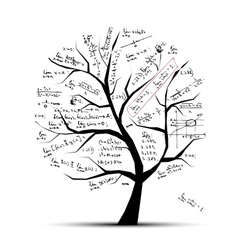 Math tree for your design vector image