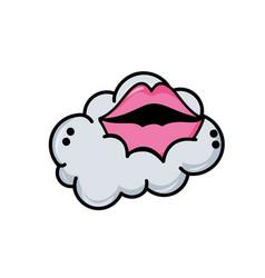 mouth cartoon design vector image