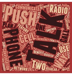 Push to talk vs two way radios text background vector