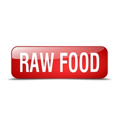 Raw food red square 3d realistic isolated web vector