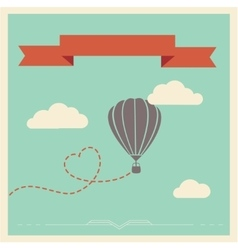 Retro card with aerostat vector image