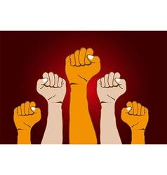 Revolution Hands background vector image
