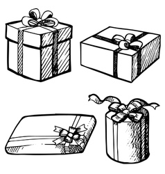 set of gift box vector image