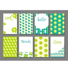 Set of printable journaling cards vector