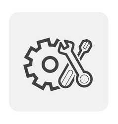 setting icon black vector image