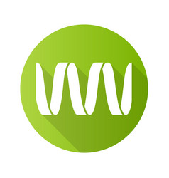 sound wave green flat design long shadow glyph vector image