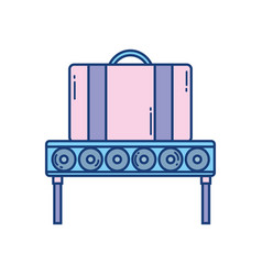 suitcase conveyor belt travel aviation transport vector image