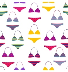 Summer beach seamless pattern with multi vector image