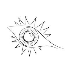 The eye sketch vector