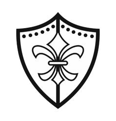 Unique shield icon vector image