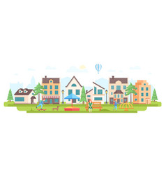 Urban district - modern flat design style vector