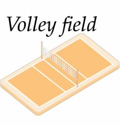 volley field vector image vector image