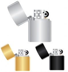 windproof lighters vector image