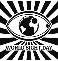 World sight day concept background simple style vector