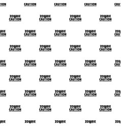 Zombie horror pattern seamless vector