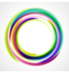 abstract smooth light ring vector image vector image