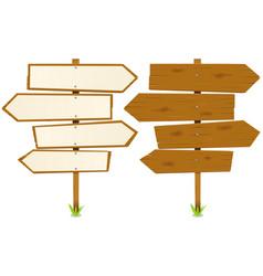 arrows wooden sign vector image