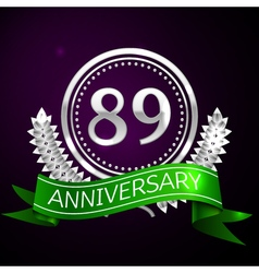 Eighty nine years anniversary celebration with vector image vector image
