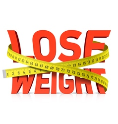Lose weight concept vector image vector image