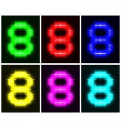 number 8 symbols vector image vector image