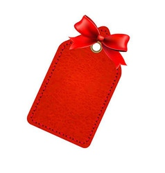 Red Sale Tag With Red Bow vector image vector image