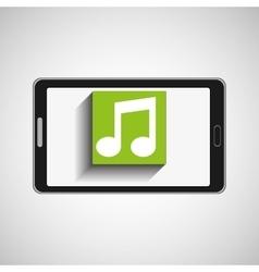 Smartphone technology music digital vector