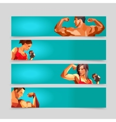 Sport Activity Banner Templates Collection vector image