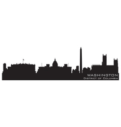 washington district of columbia skyline detailed s vector image