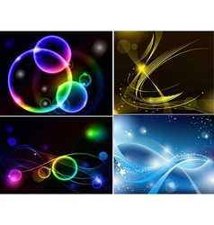 abstract background set vector image