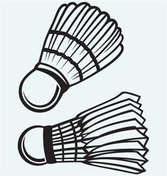 Badminton ball vector image vector image