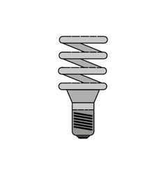 Electricity flat icon Energy saving light bulb vector image vector image