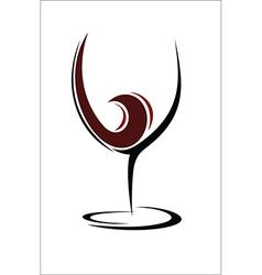 Glass of wine design vector image